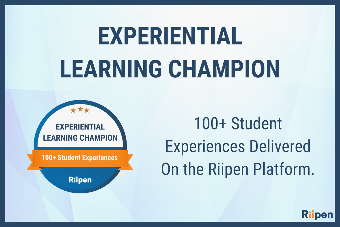 Riipen 100 student experiences banner